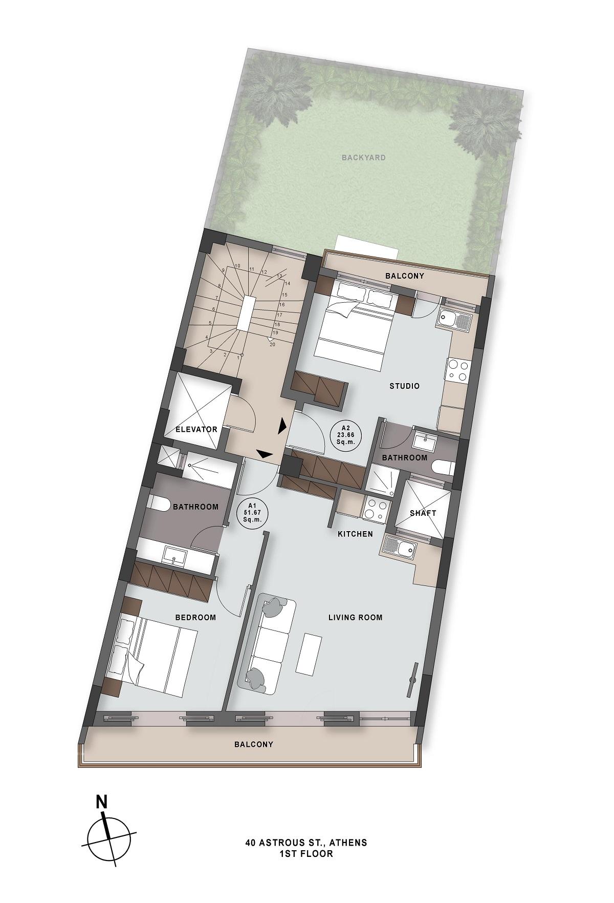 Astrous 40 1st floor plan
