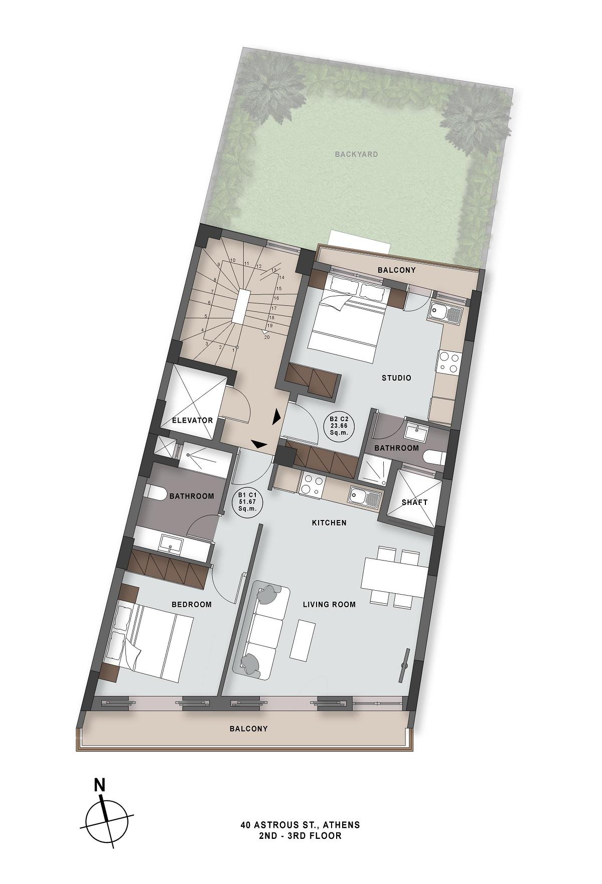 Astrous 40 2nd 3rd floor plan