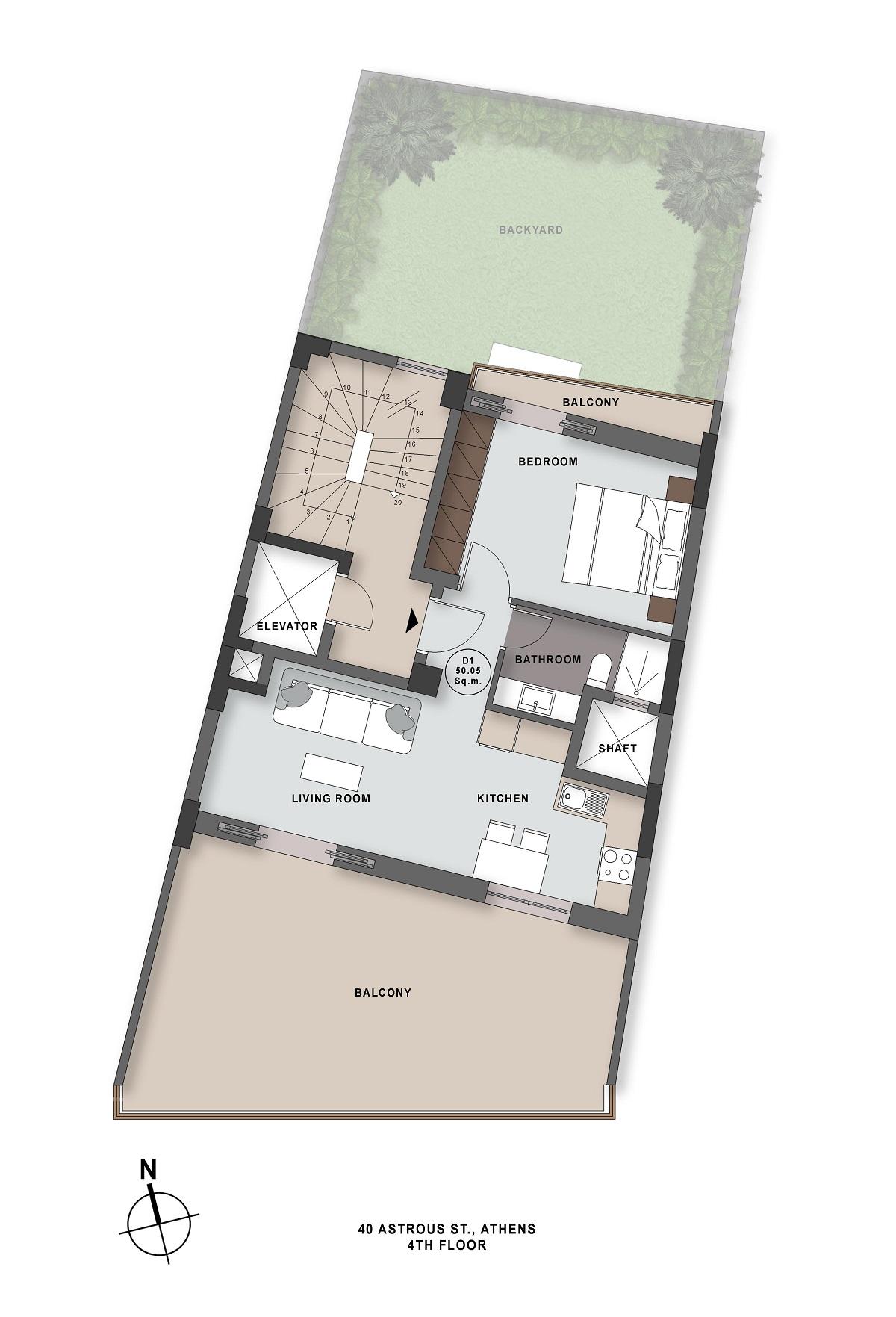 Astrous 40 4th floor plan