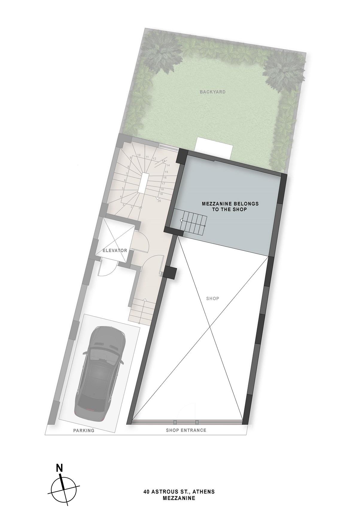 Astrous 40 mezzanine plan