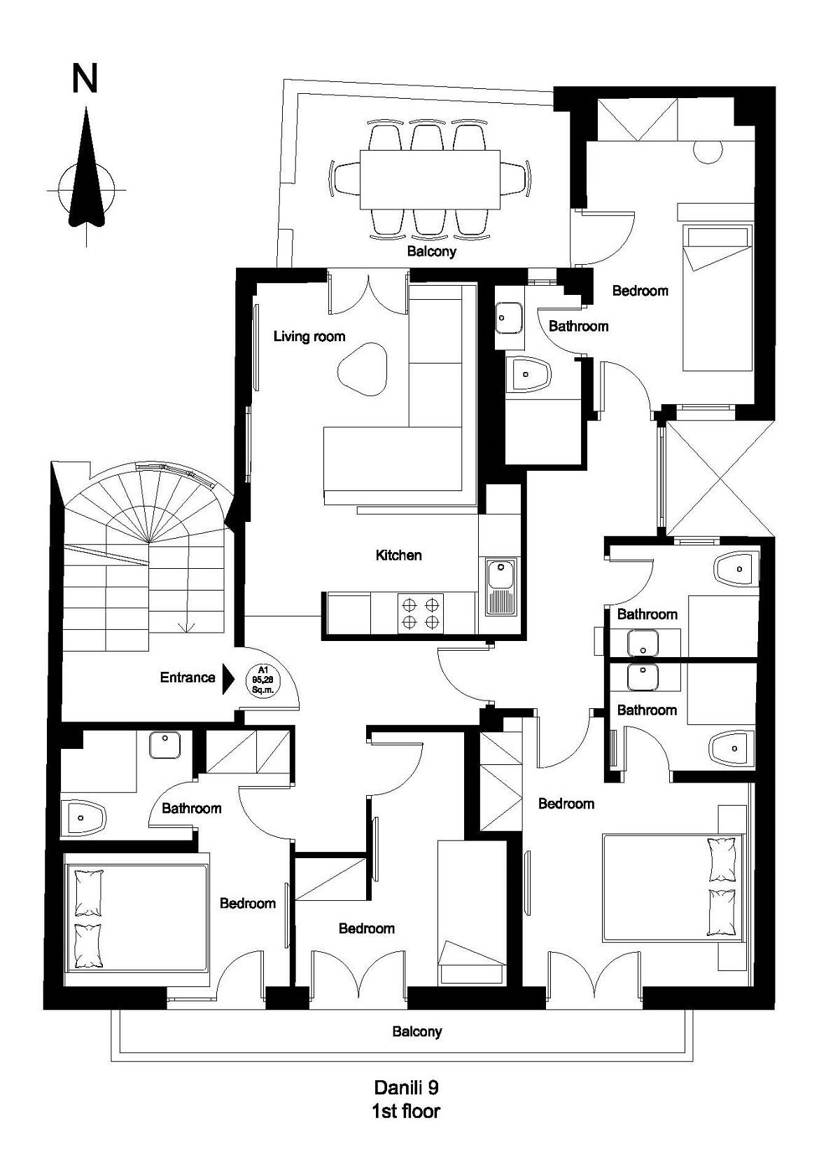 Danili 9 1st floor plan
