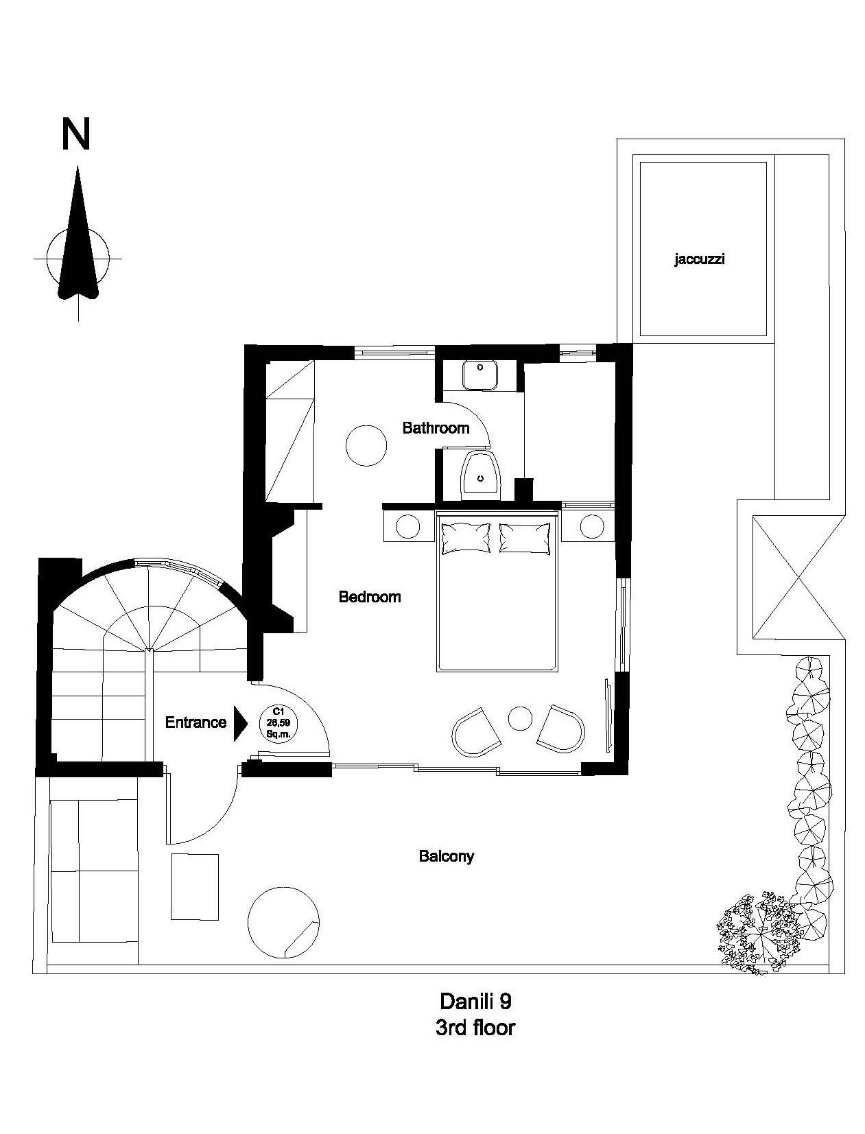 Danili 9 3rd floor plan