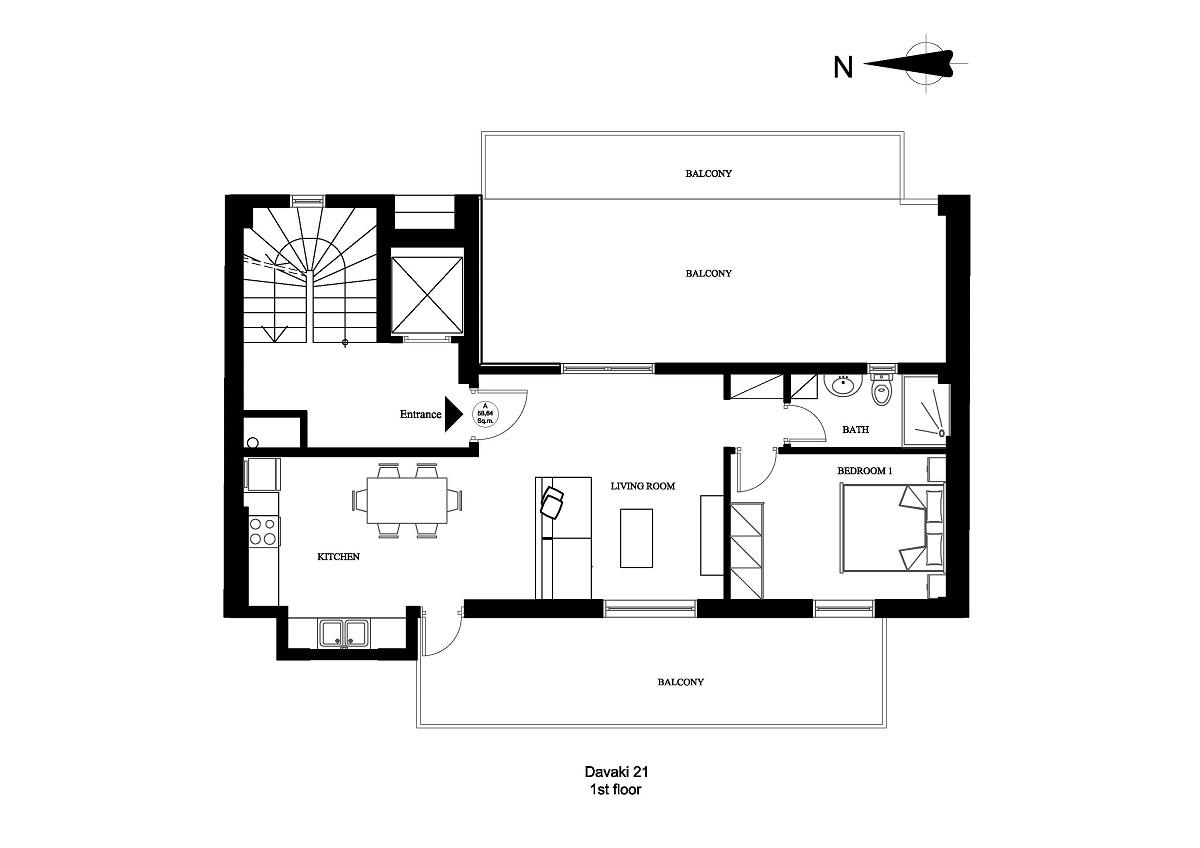 Davaki 21 1st floor plan