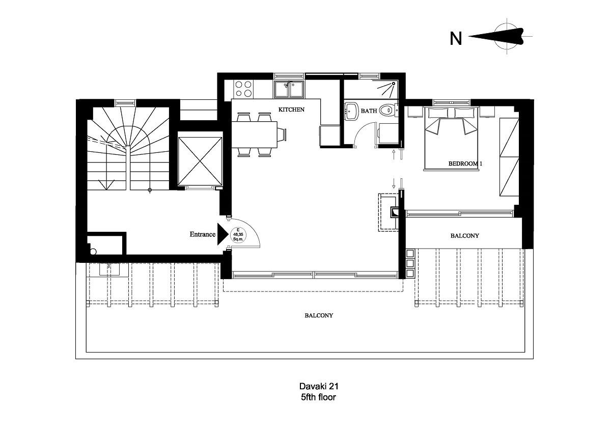 Davaki 21 5fth floor plan