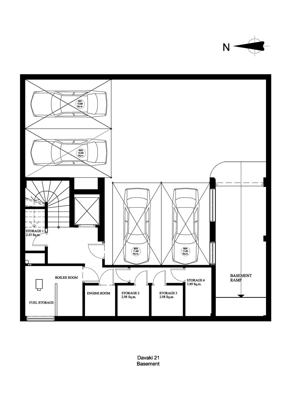 Davaki 21 basement plan