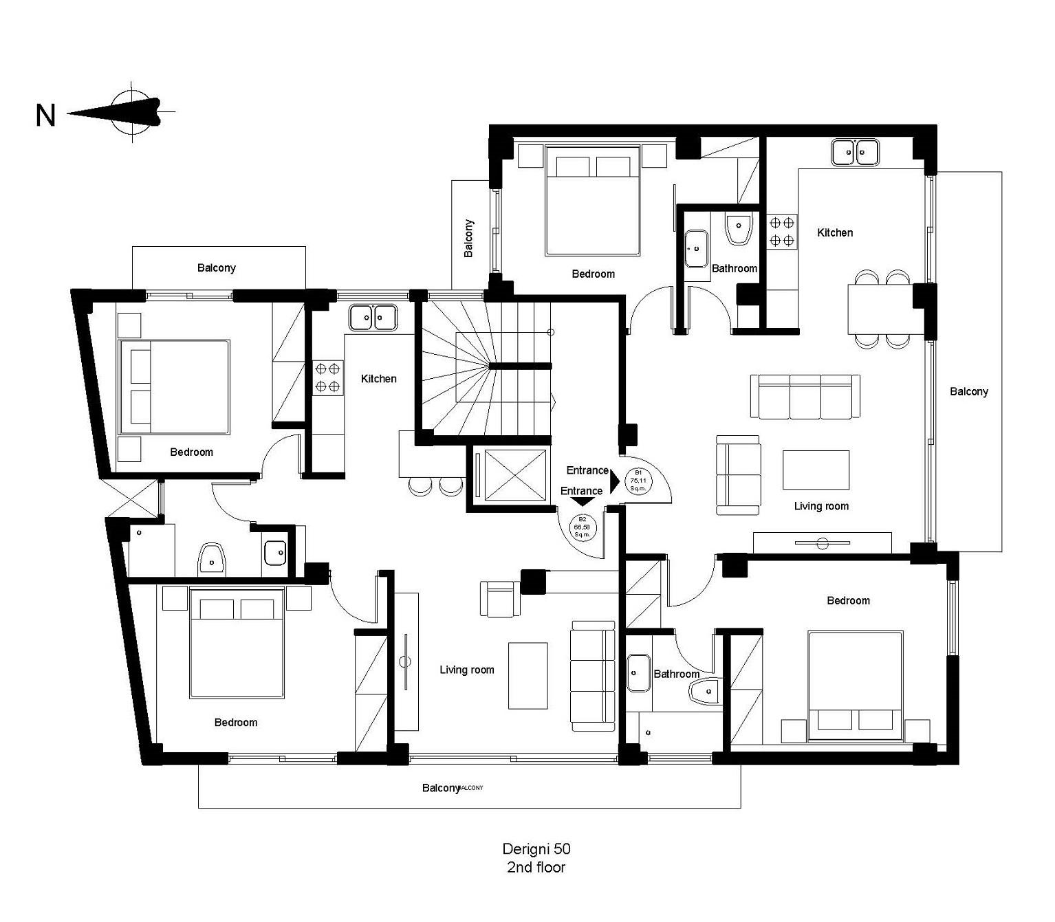 Derigni 50 2nd floor plan