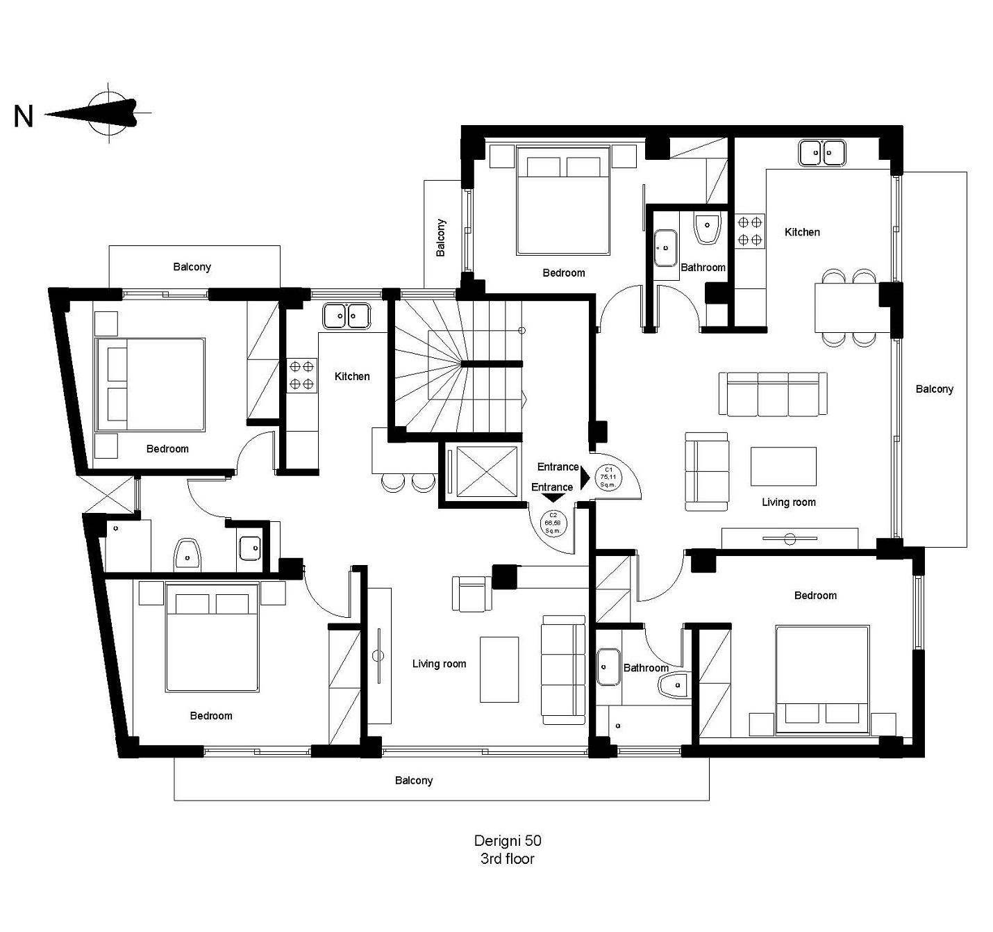 Derigni 50 3rd floor plan
