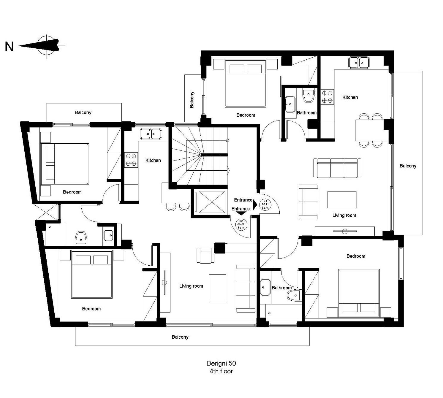 Derigni 50 4th floor plan