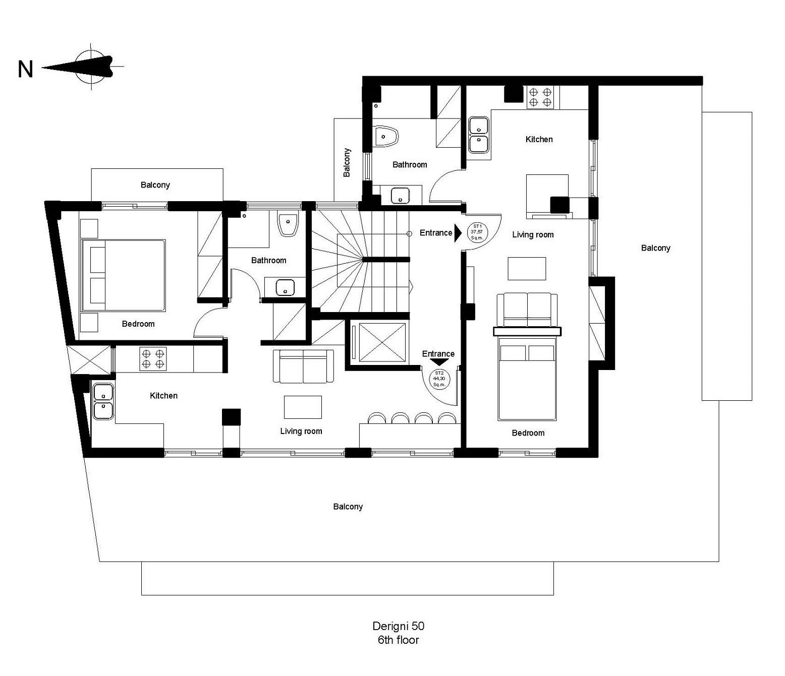 Derigni 50 6th floor plan