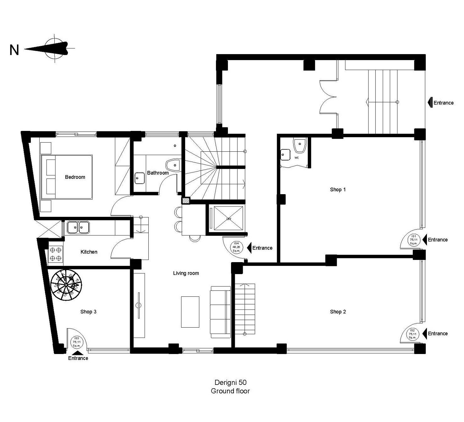 Derigni 50 ground floor plan