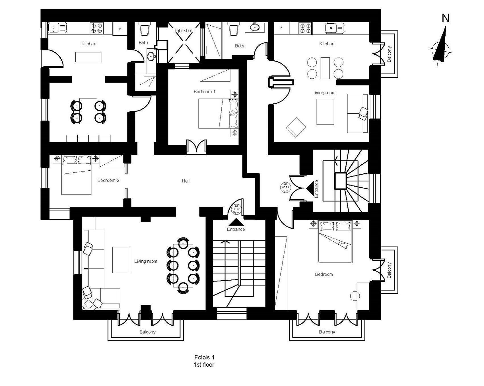 Folois 1 1st floor plan