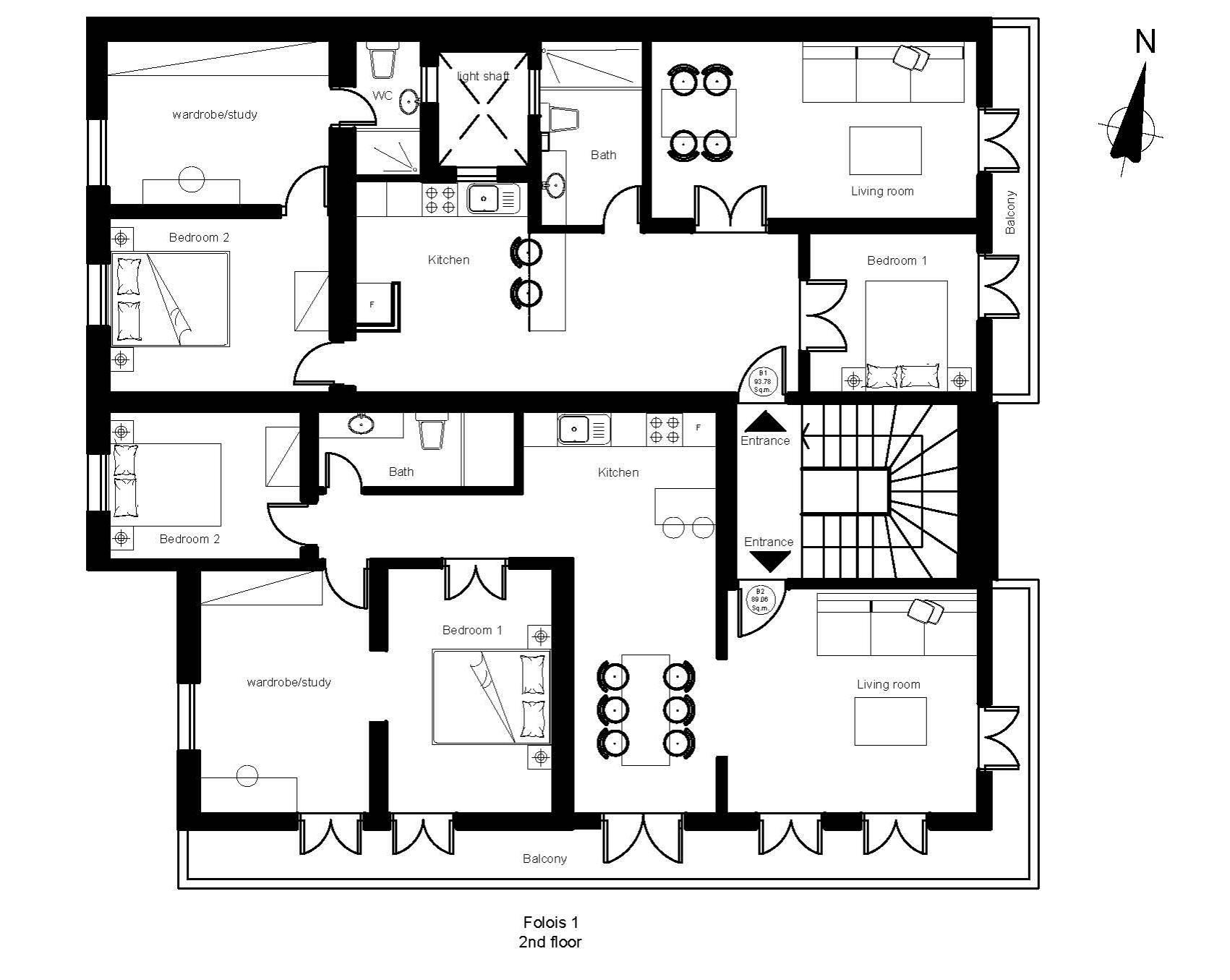Folois 1 2nd floor plan