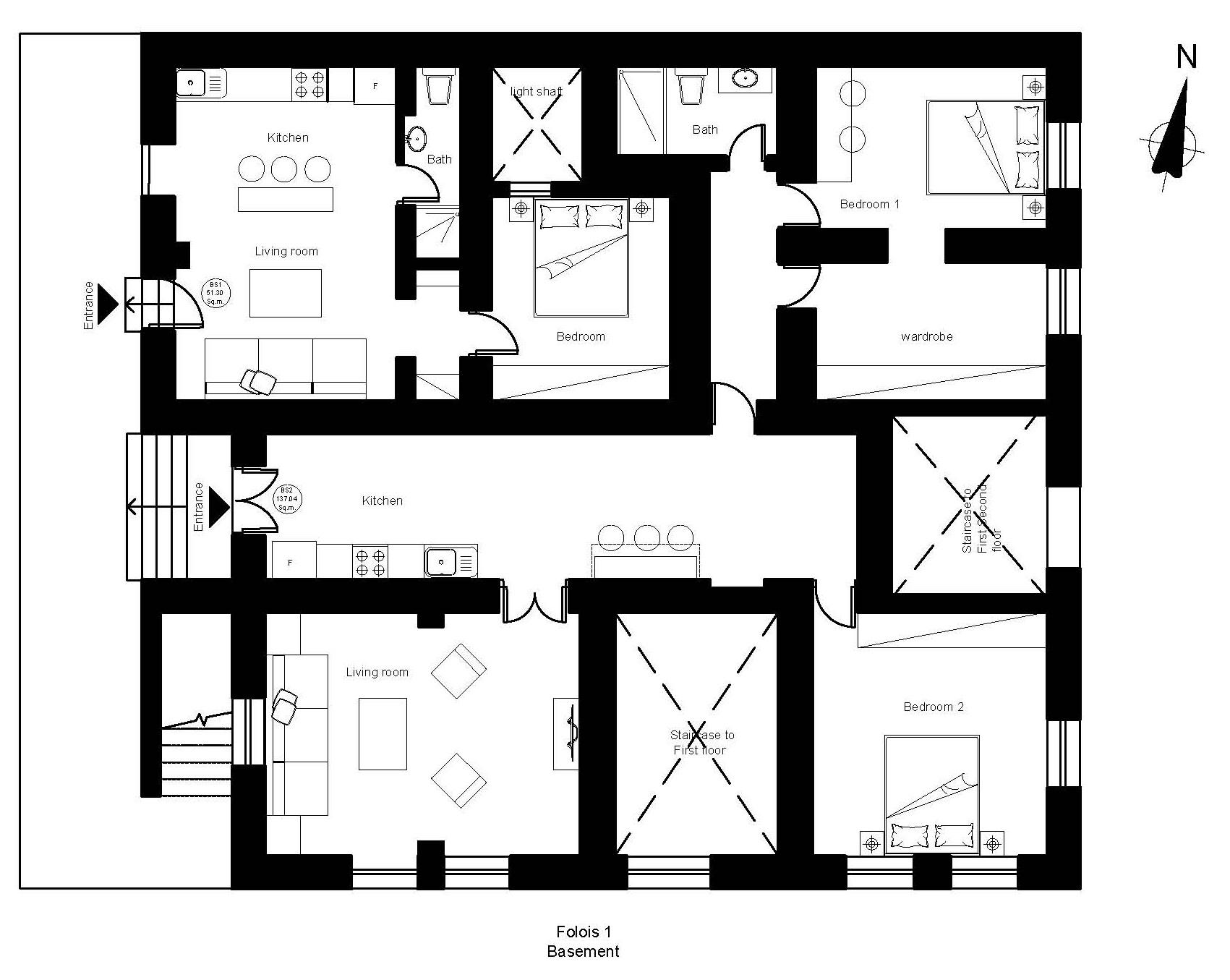 Folois 1 basement plan