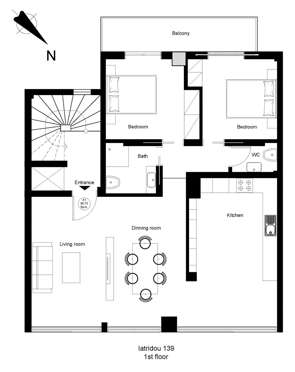 Iatridou 139 1st floor plan