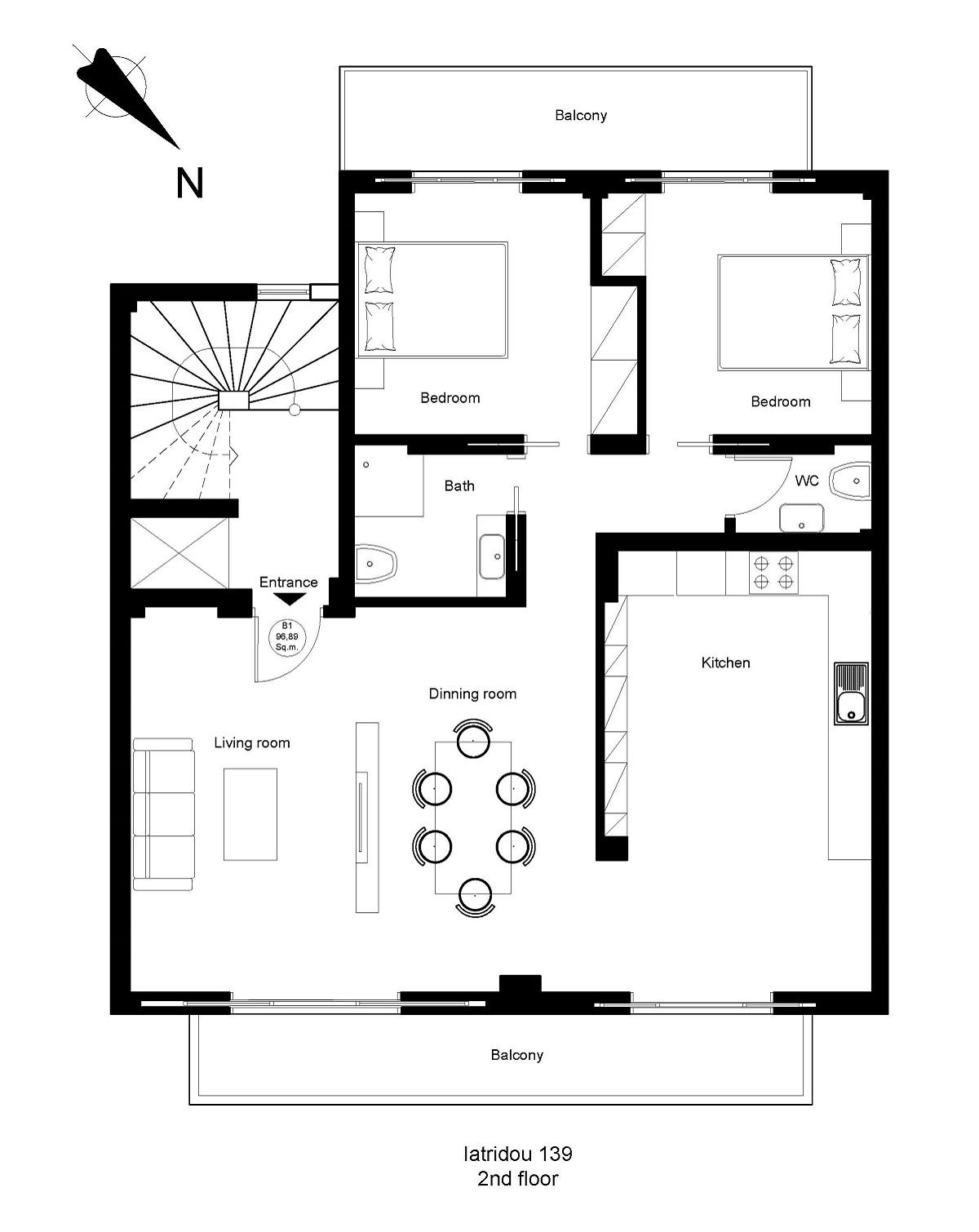 Iatridou 139 2nd floor plan