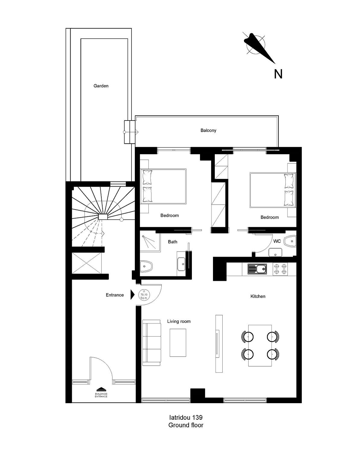 Iatridou 139 ground floor plan