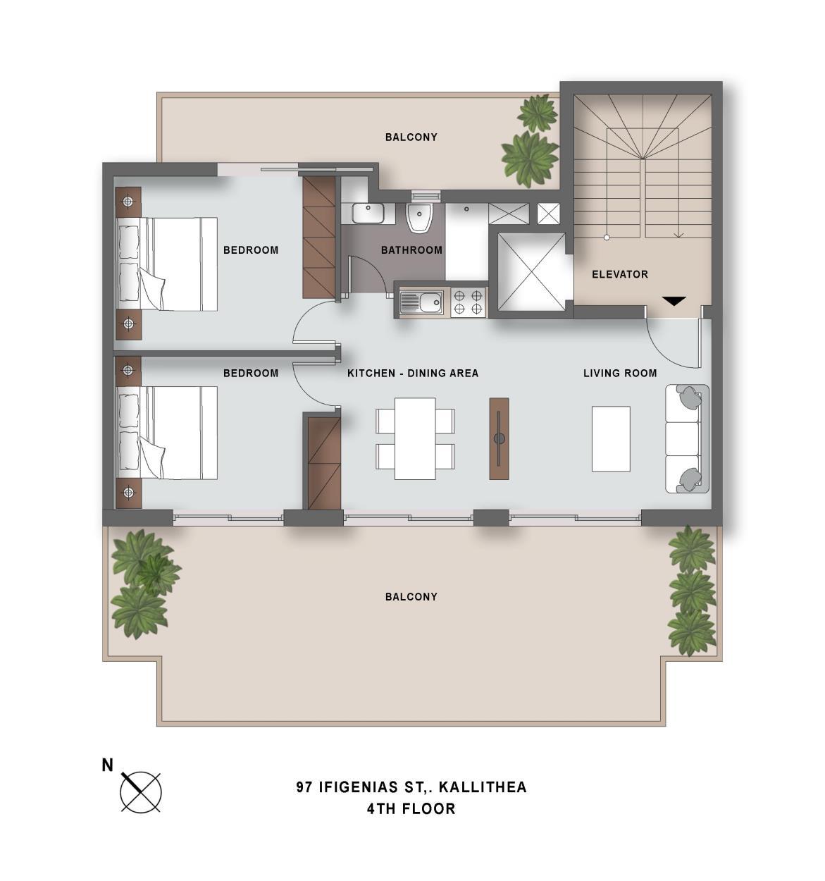 Ifigeneias 97 4th floor plan