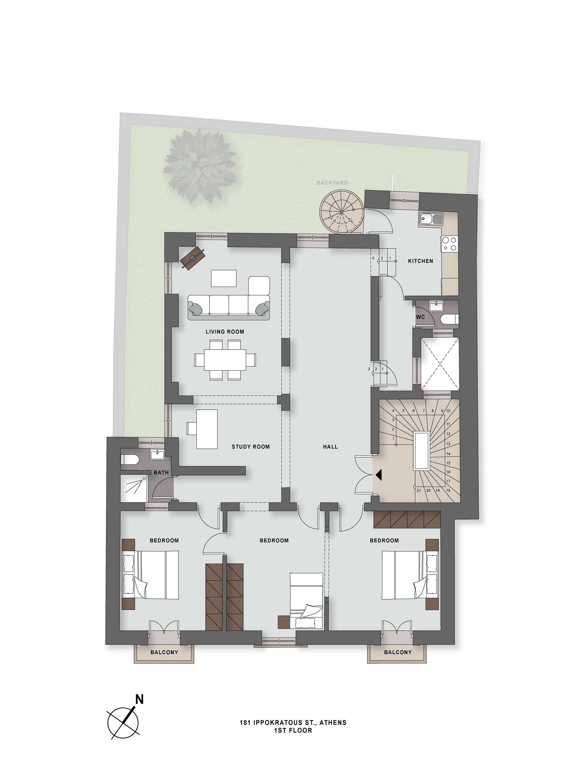 Ippokratous 181 1st floor plan