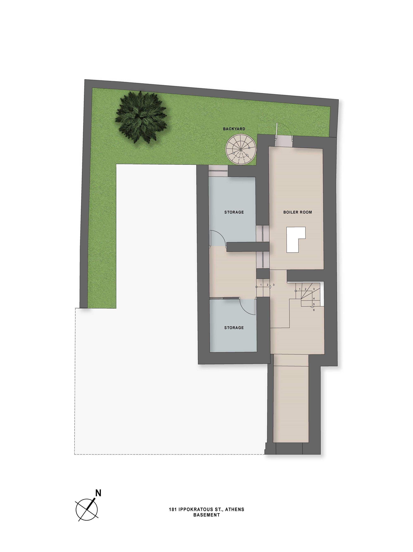 Ippokratous 181 basement plan