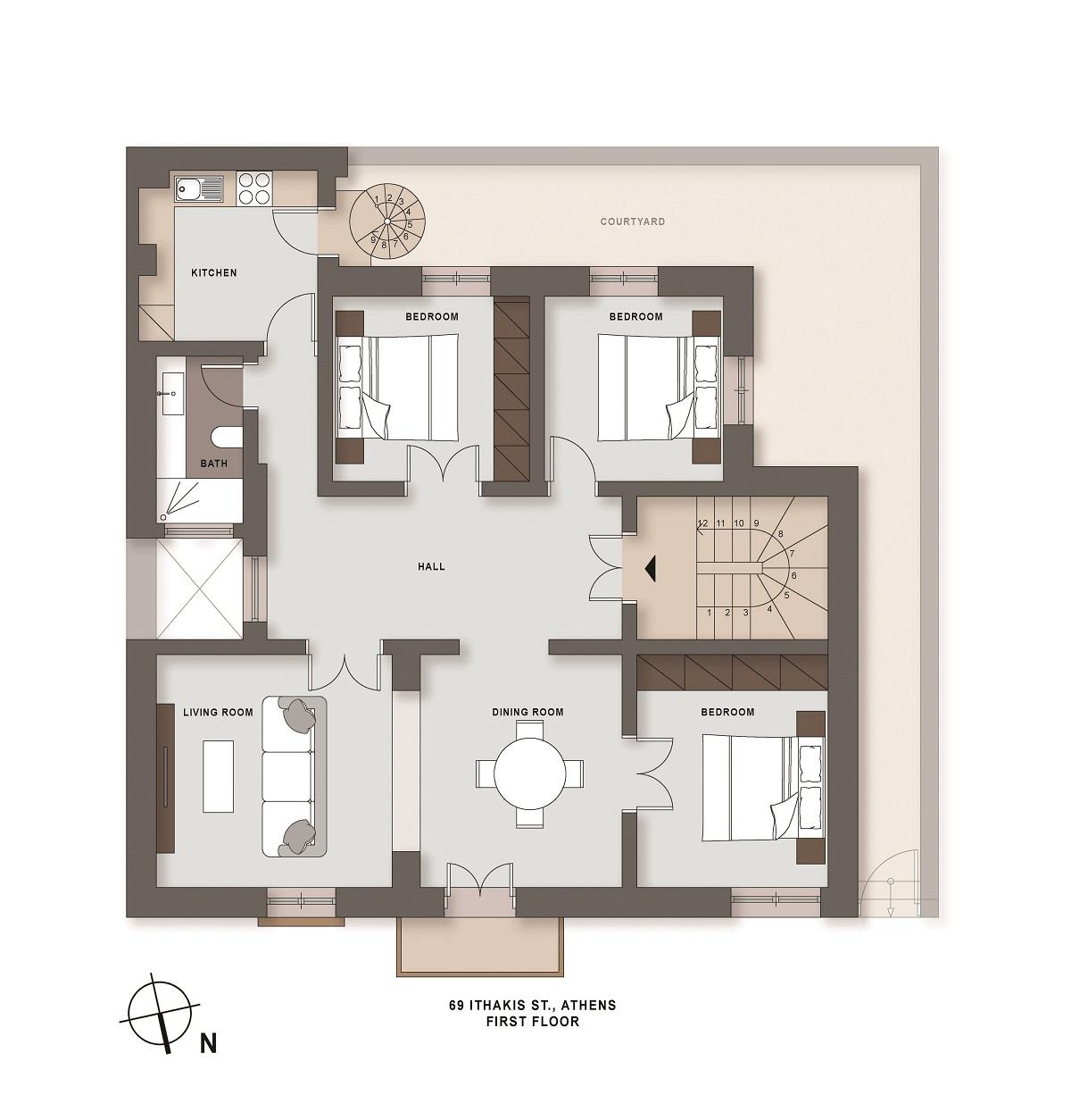 Ithakis 69 1st floor plan