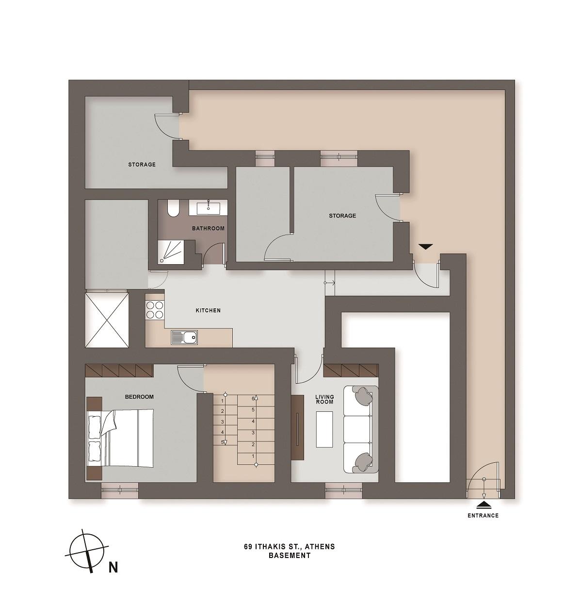 Ithakis 69 basement plan