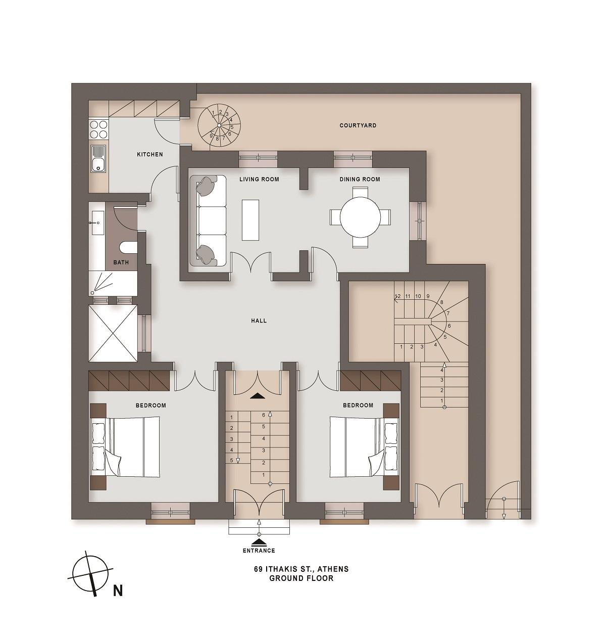 Ithakis 69 ground floor plan