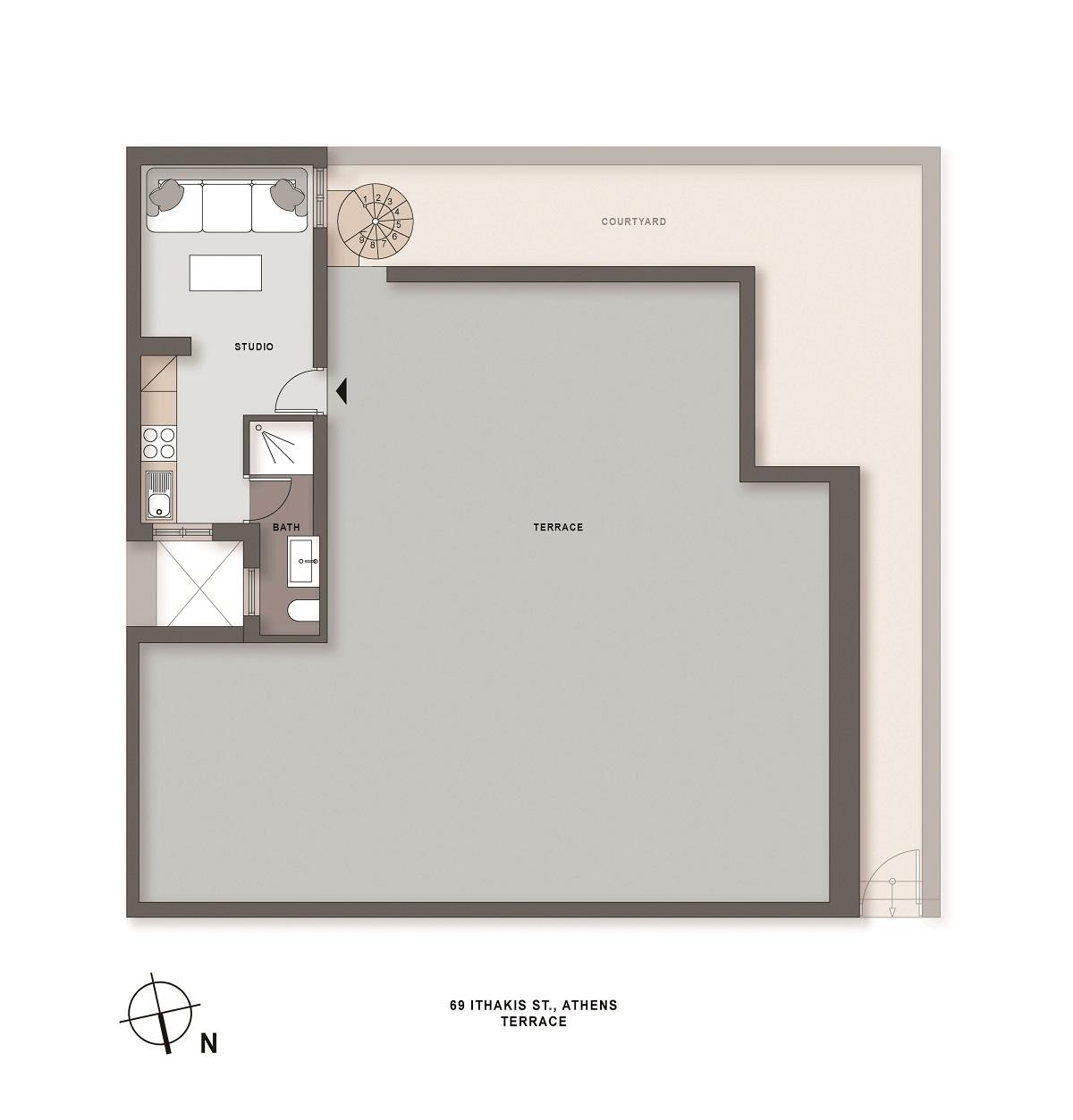 Ithakis 69 terrace plan