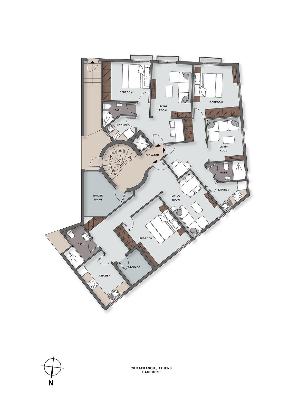 Kafkasou 20 basement plan