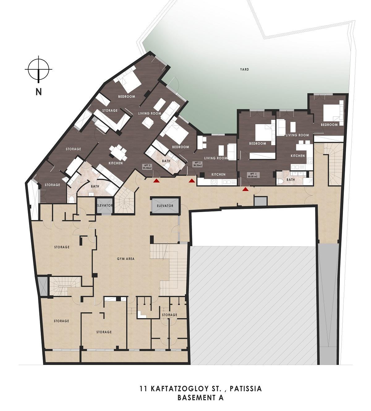 Kaftantzoglou 11 1st basement plan