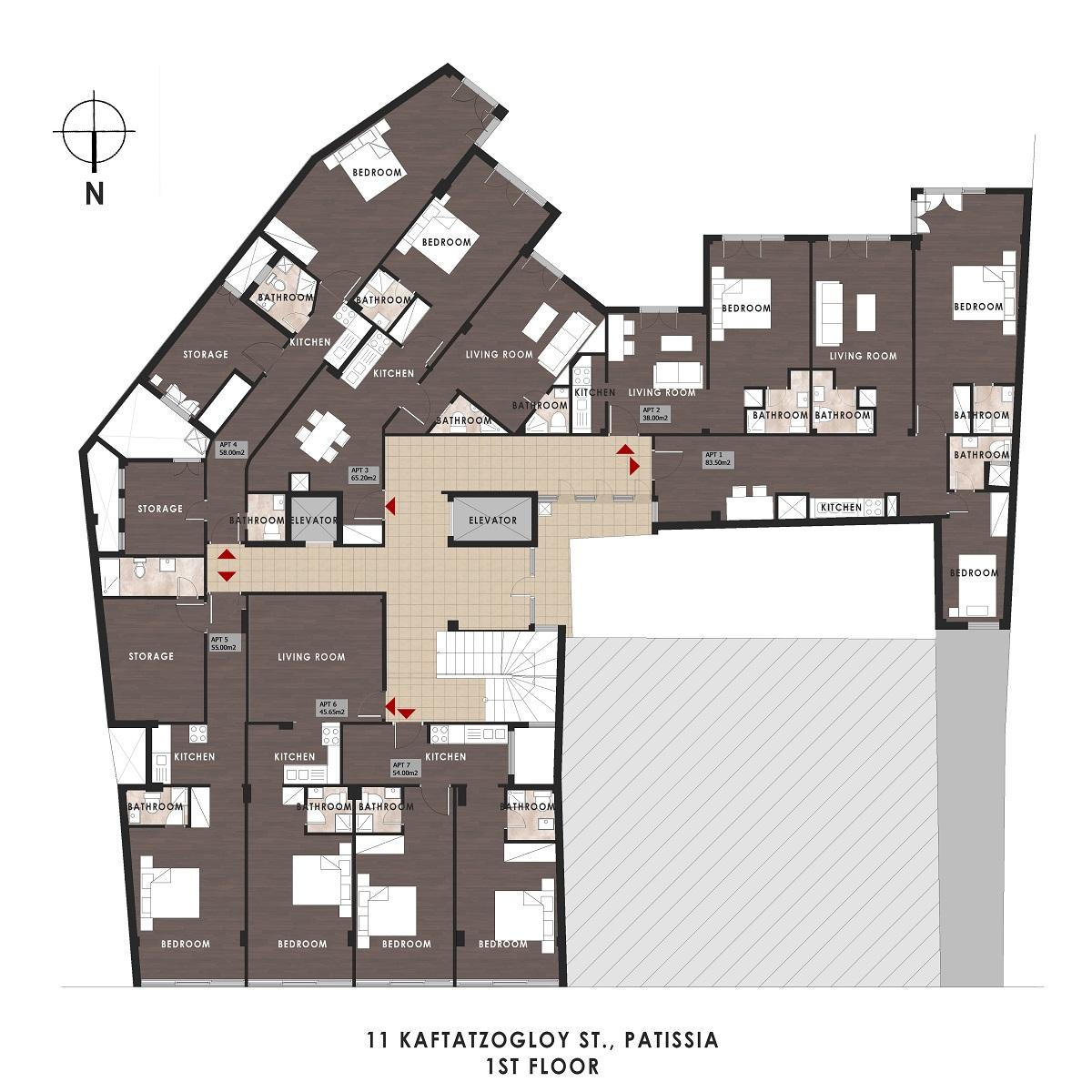 Kaftantzoglou 11 1st floor plan