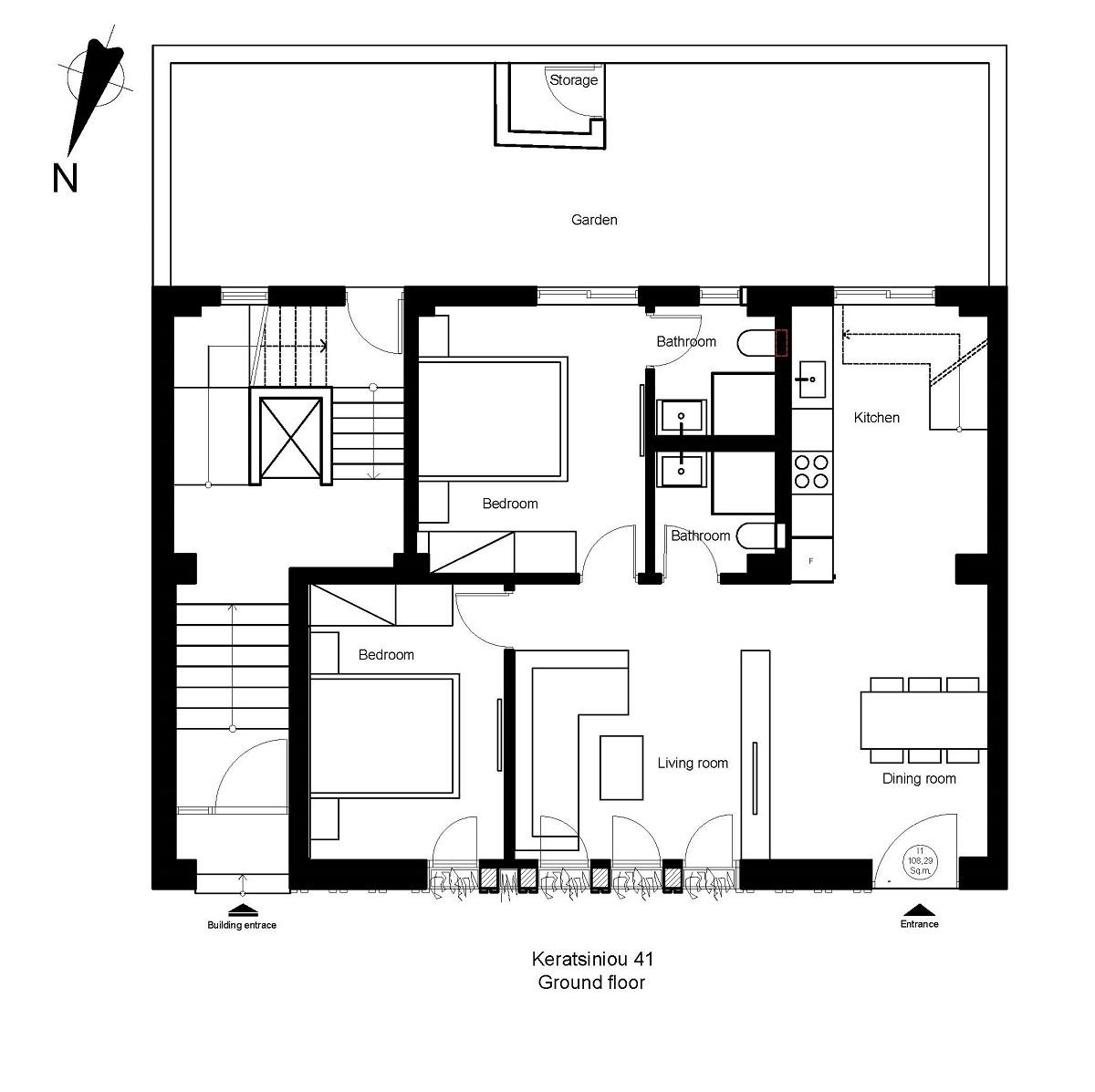 Keratsiniou 41 ground floor plan