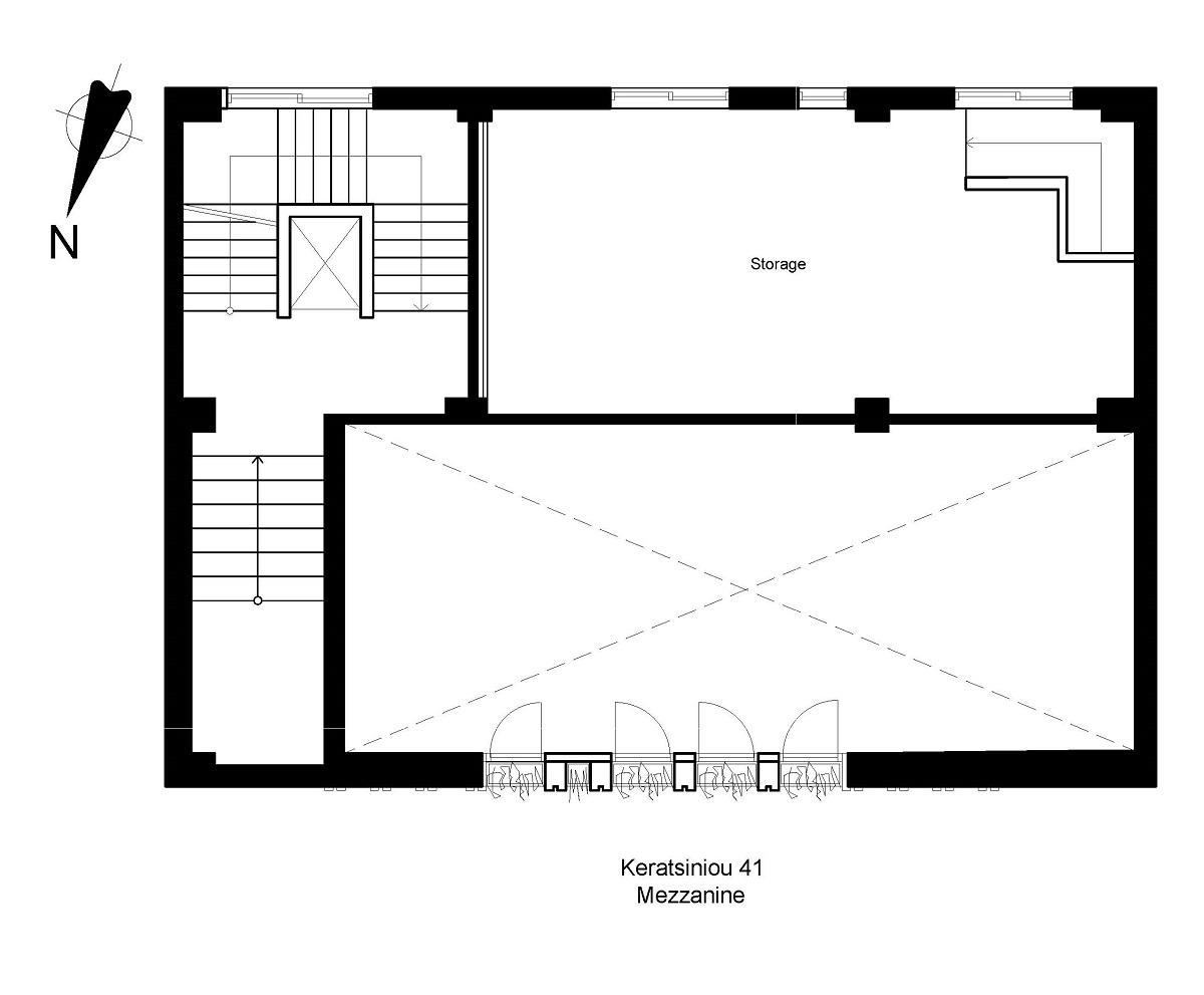 Keratsiniou 41 mezzanine plan
