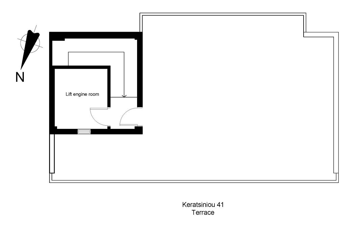 Keratsiniou 41 terrace plan
