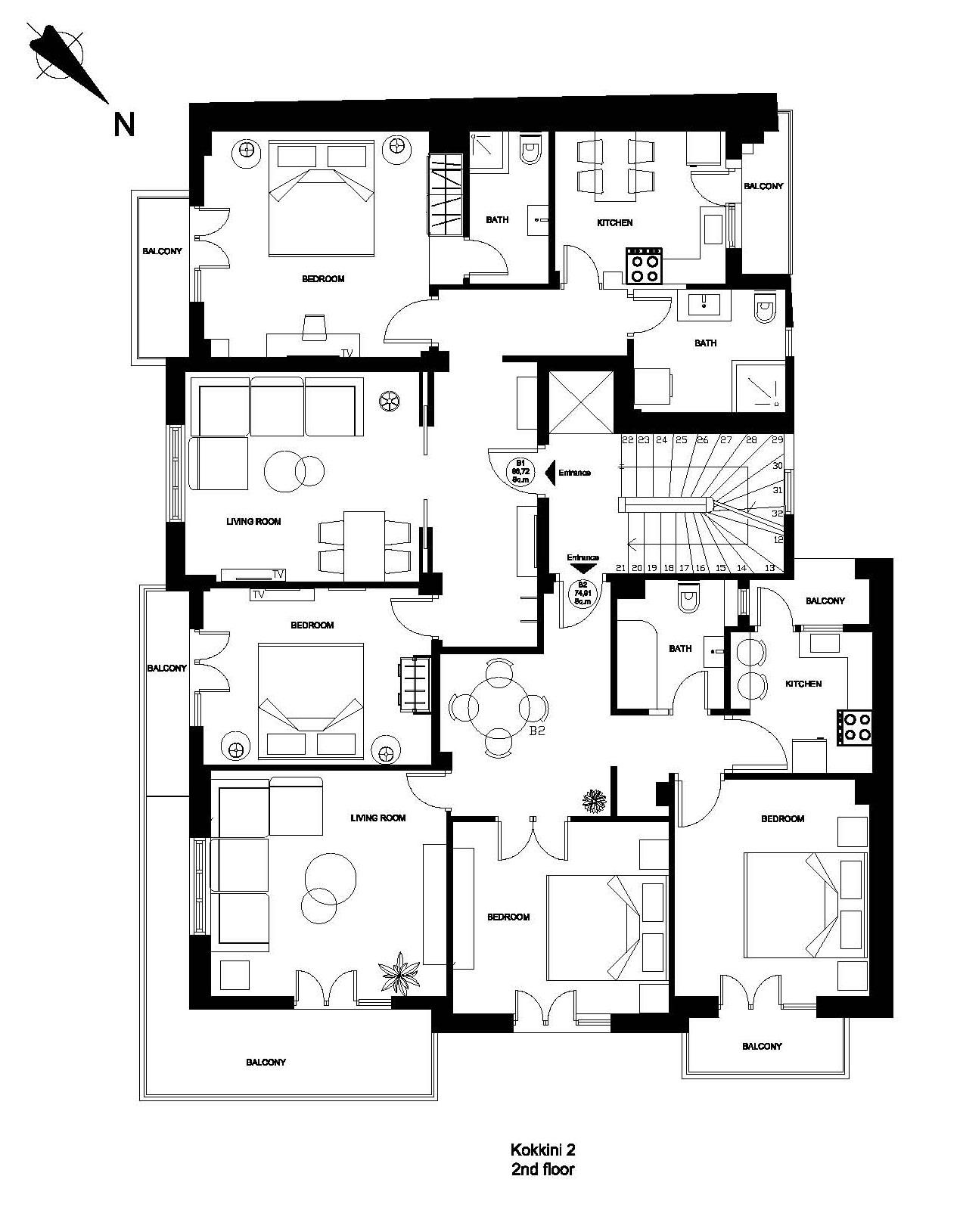 Kokkini 2 2nd floor plan