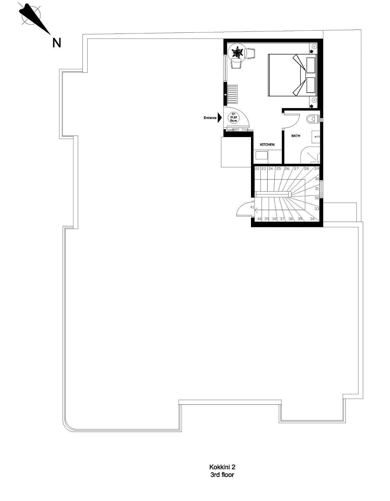 Kokkini 2 3rd floor plan