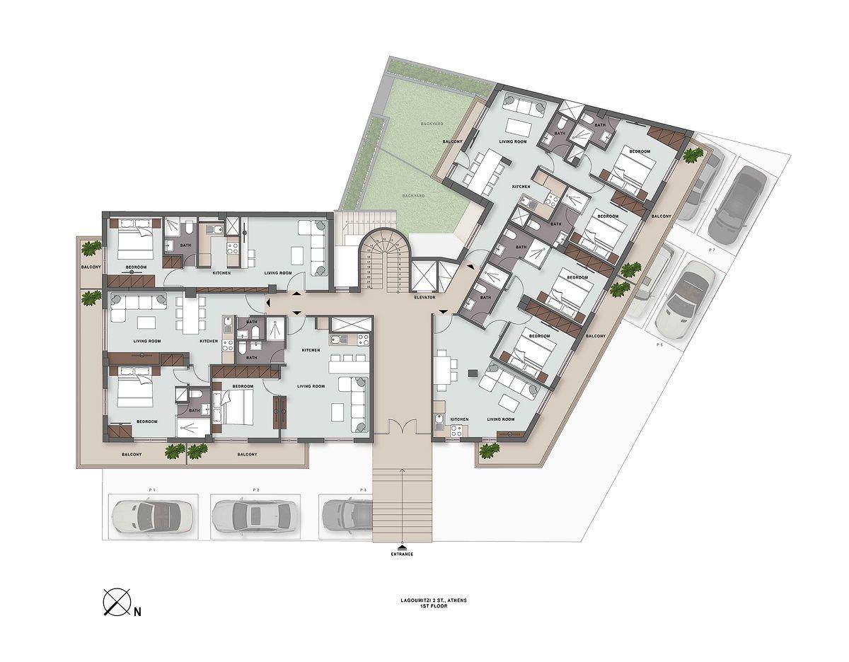 Lagoumitzi 2 1st floor plan