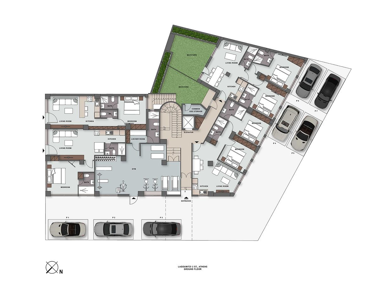 Lagoumitzi 2 ground floor plan