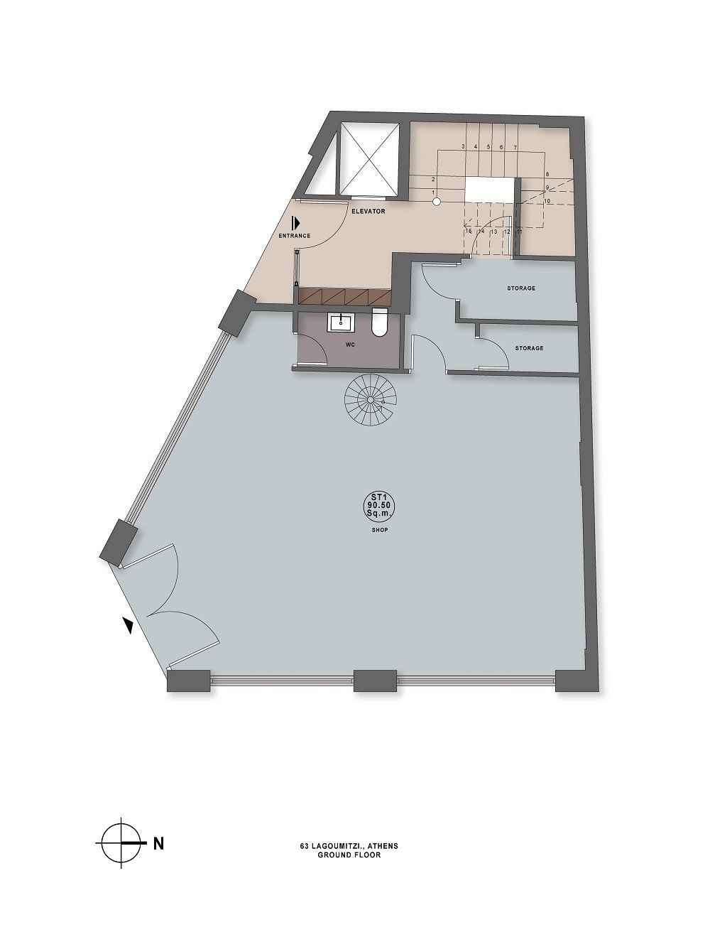 Lagoumitzi 63 ground floor plan