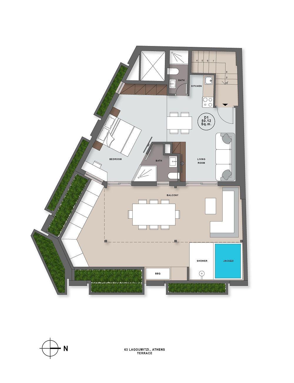 Lagoumitzi 63 terrace plan