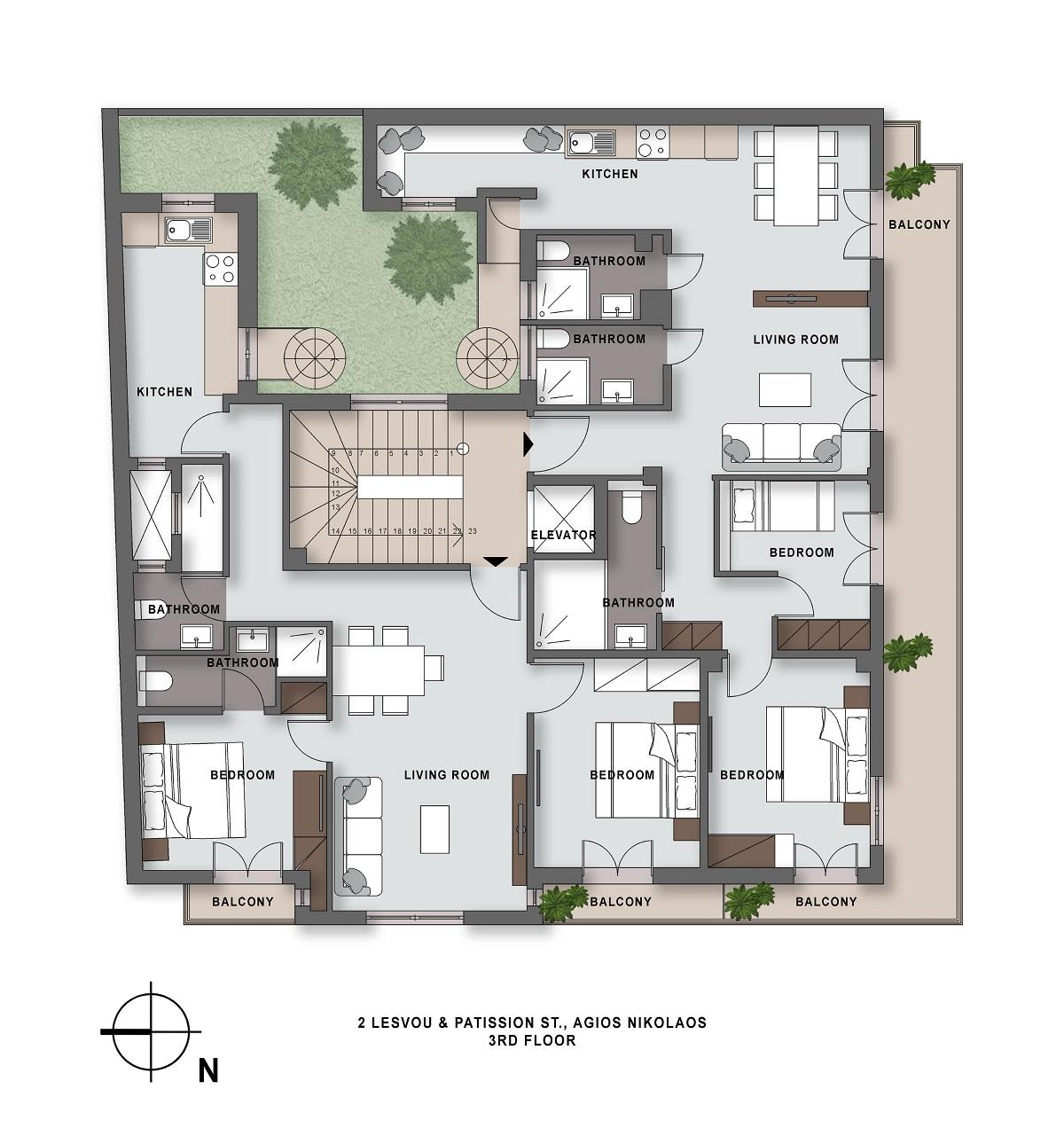 Lesvou 2 3rd floor plan
