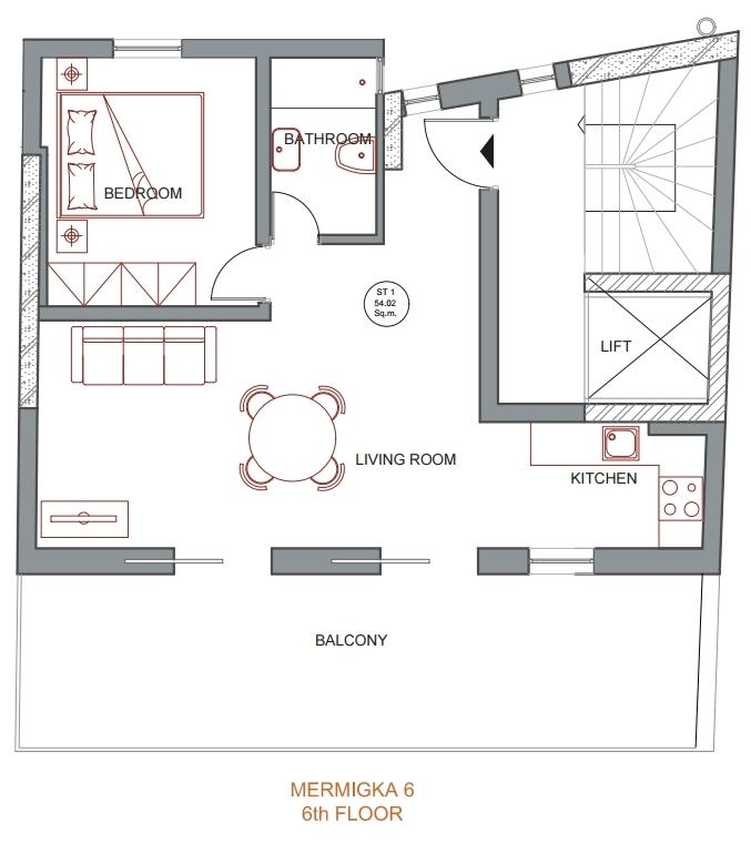 Mermigka 6 6th floor plan
