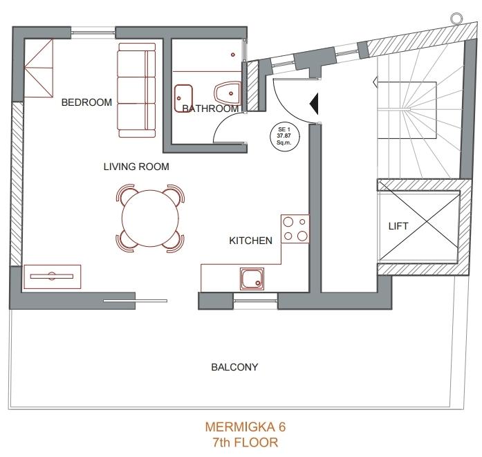 Mermigka 6 7th floor plan