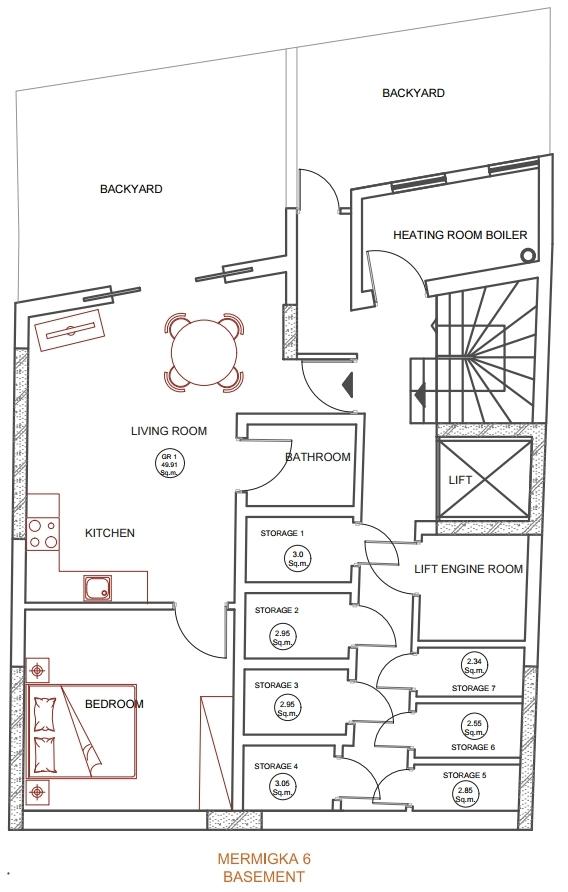 Mermigka 6 basement plan