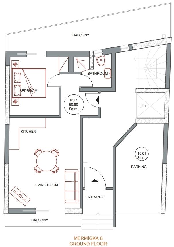 Mermigka 6 ground floor plan