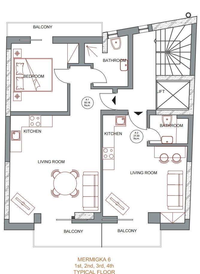 Mermigka 6 typical floor plan