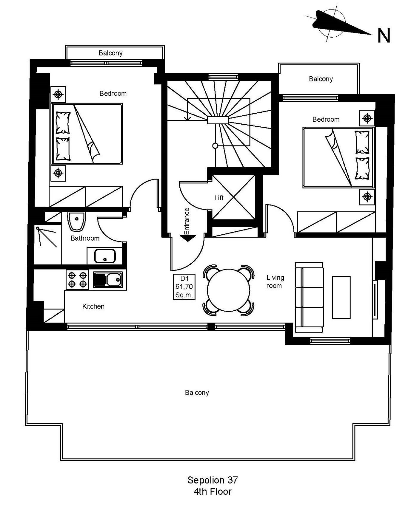 Sepolion 37 4th floor plan