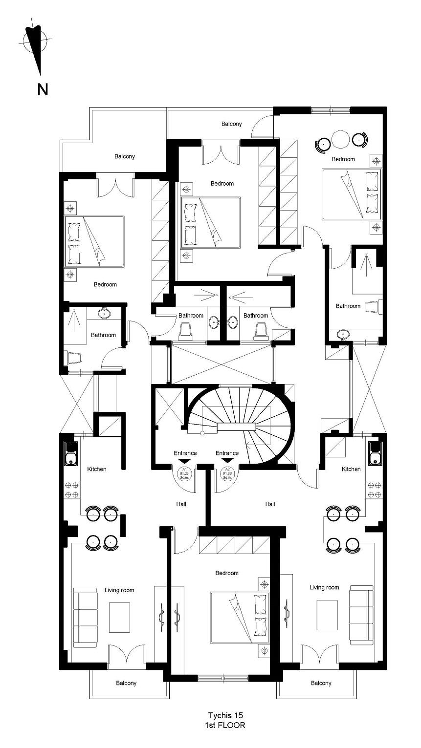Tichis 15 1st floor plan