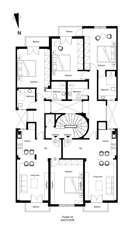 Tichis 15 2nd floor plan